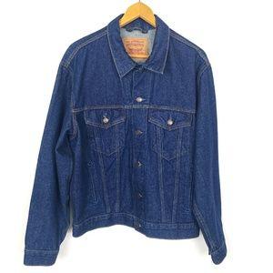Vintage Levi's Trucker Blue Denim Jean Jacket XL